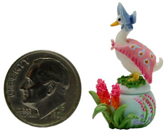 STORY BOOK JEM DUCK IN PUDDLE SECRET TRINKET BOX by WEE-OOAK-MINIATURES