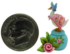 STORY BOOK JEMIMA DUCK IN PUDDLE ROSE SECRET BOX by WEE-OOAK-MINIATURES