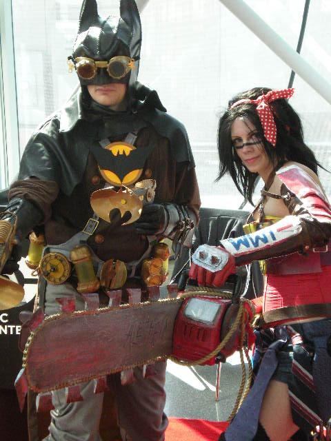 Steampunk Batman and Wonder Woman by SuperPlayerJ