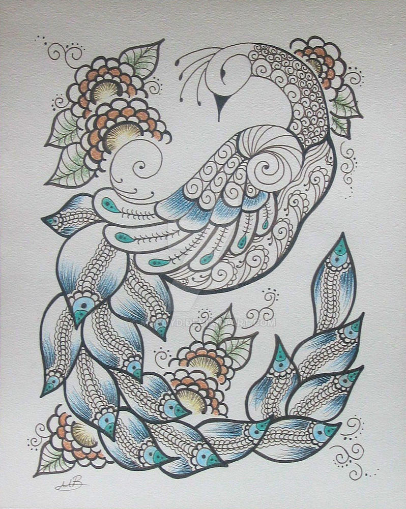 Henna Peacock: Henna Peacock 4 By MSBoyd On DeviantArt