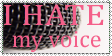 I hate my Voice Stamp by Seirabi