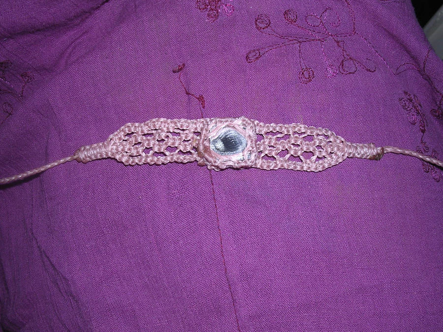 Mirror macrame bracelet by moonlightflower99