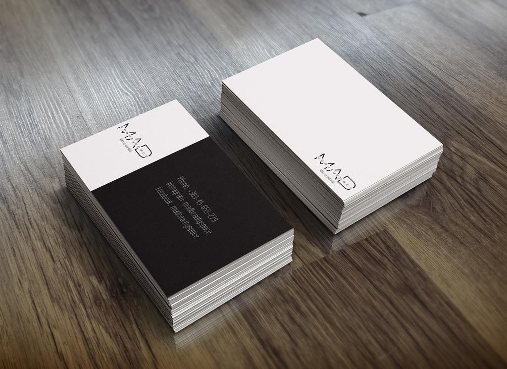 Clean professional business card design by Nojreart on DeviantArt