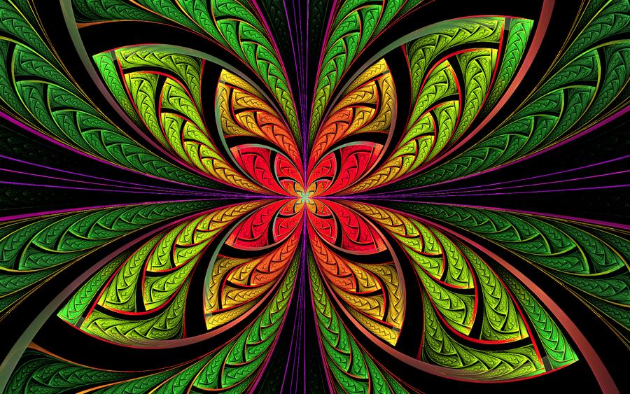 psychedelic butterfly by kram666