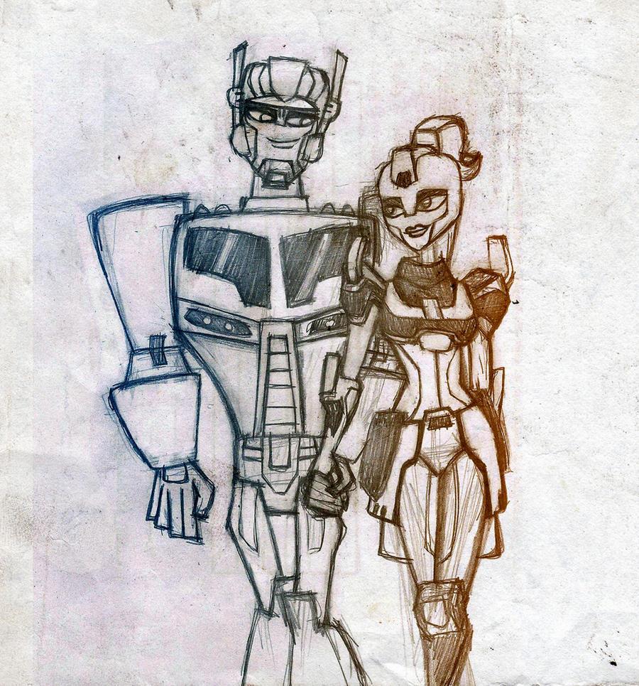 Optimus and Elita-1