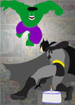 Batman Hulk Card