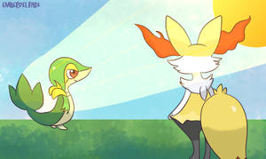 [Request] Braixen and snivy!