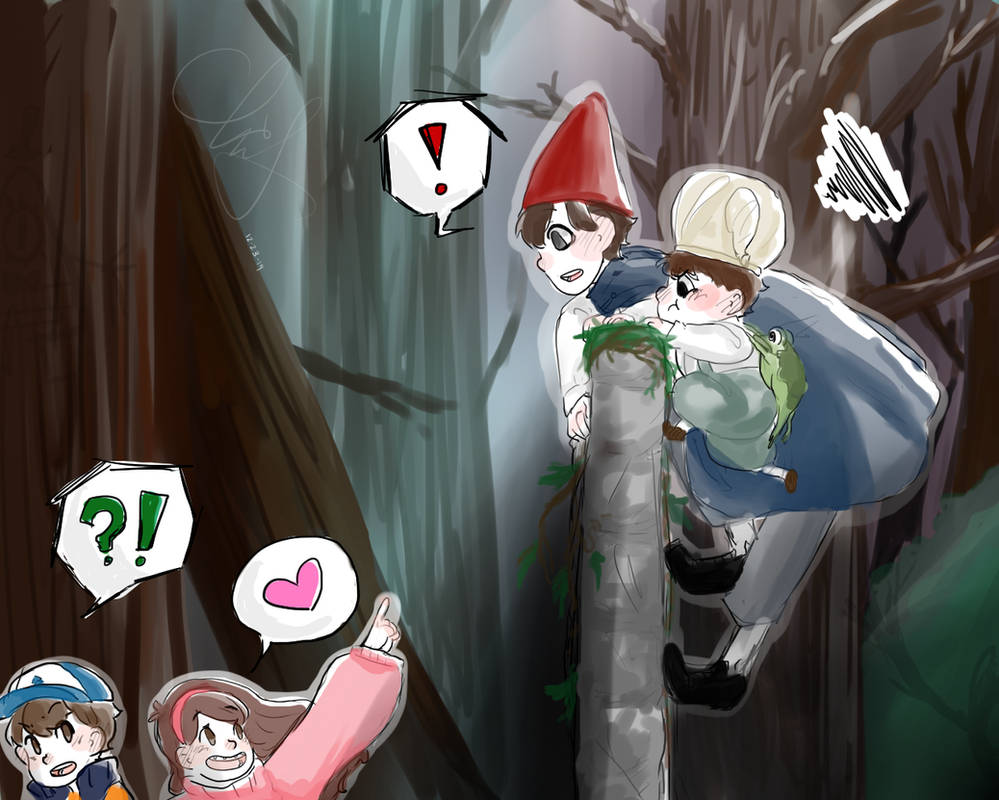 Over The Garden Wall Is Where Gravity Falls By Moonlightglare On
