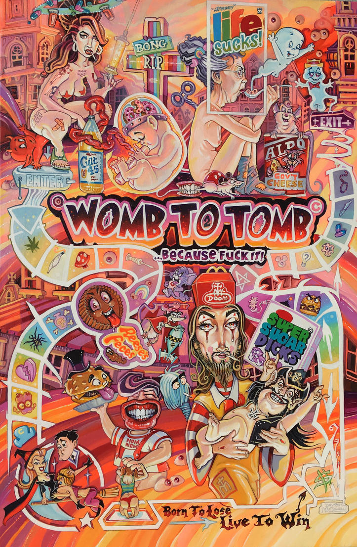 WombToTomb20x30 by davidmacdowell
