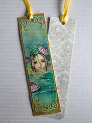 [SOLD] Water Lily - Watercolor Bookmark by Speckled-Egg