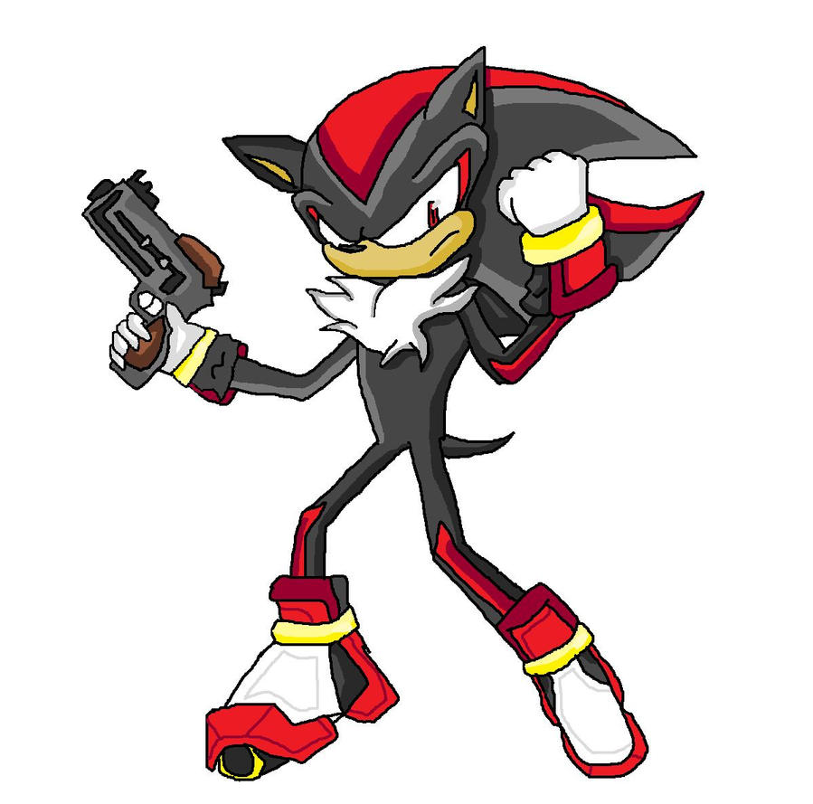 Shadow the hedgehog and gun.. by Timsicle on DeviantArt