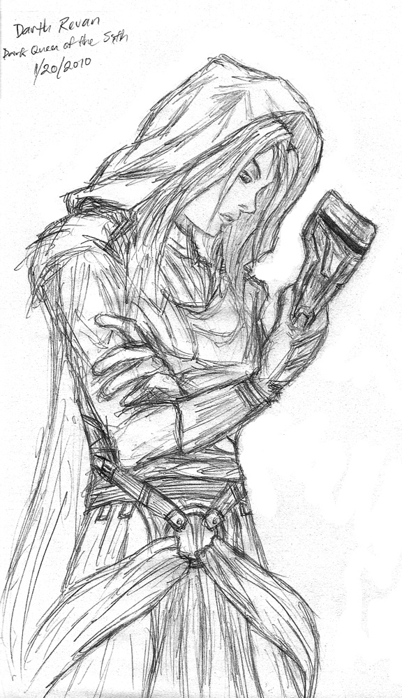 Darth Revan sketch by RadStratRadar