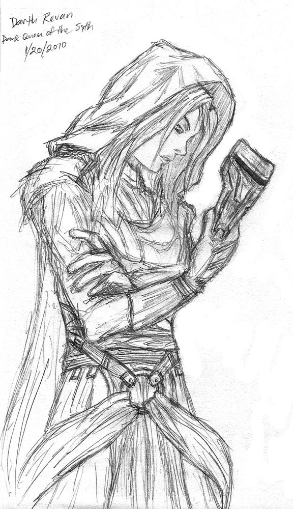 Darth Revan sketch by RadStratRadar