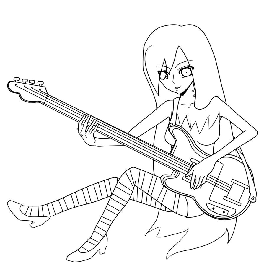 Marceline the vampire queen by himenozetsubou on deviantart for Marceline coloring pages