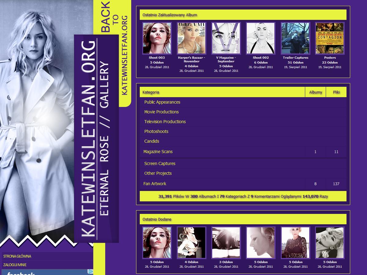 Kate Winslet FanSite Design