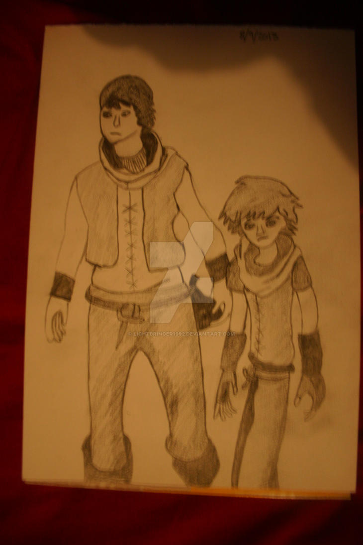 BROTHERS A Tale of Two Sons - sketch by Lightbringer1992