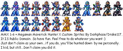 Megaman X Armors 1-6 by Drake117