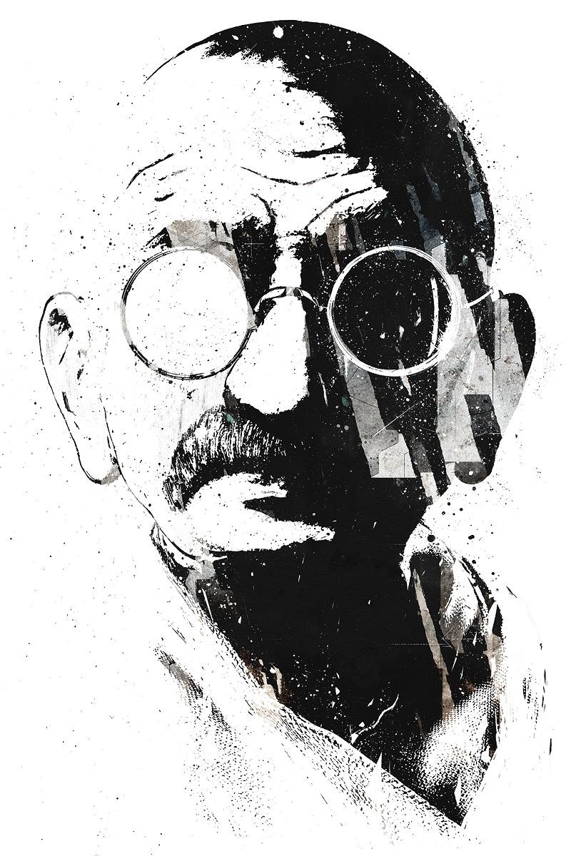 Gandhi by vhm-Alex
