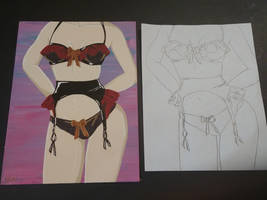 Lingerie Painting and Sketch