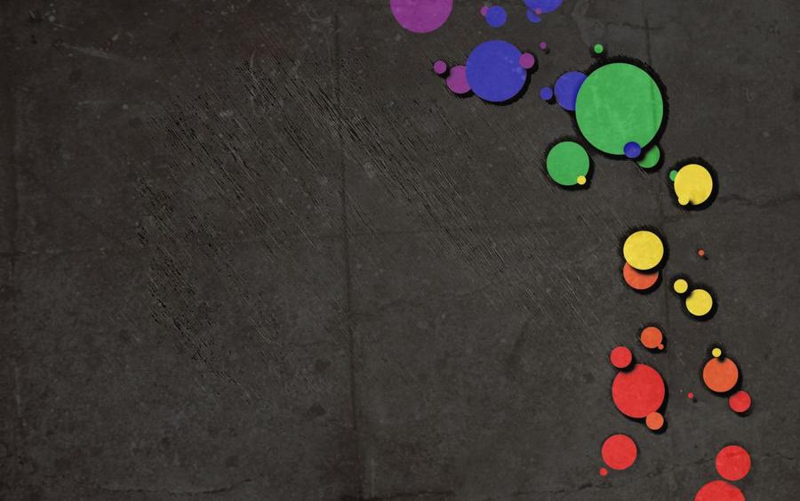 Rainbow Circles Wallpaper Dark Rainbow Circles by