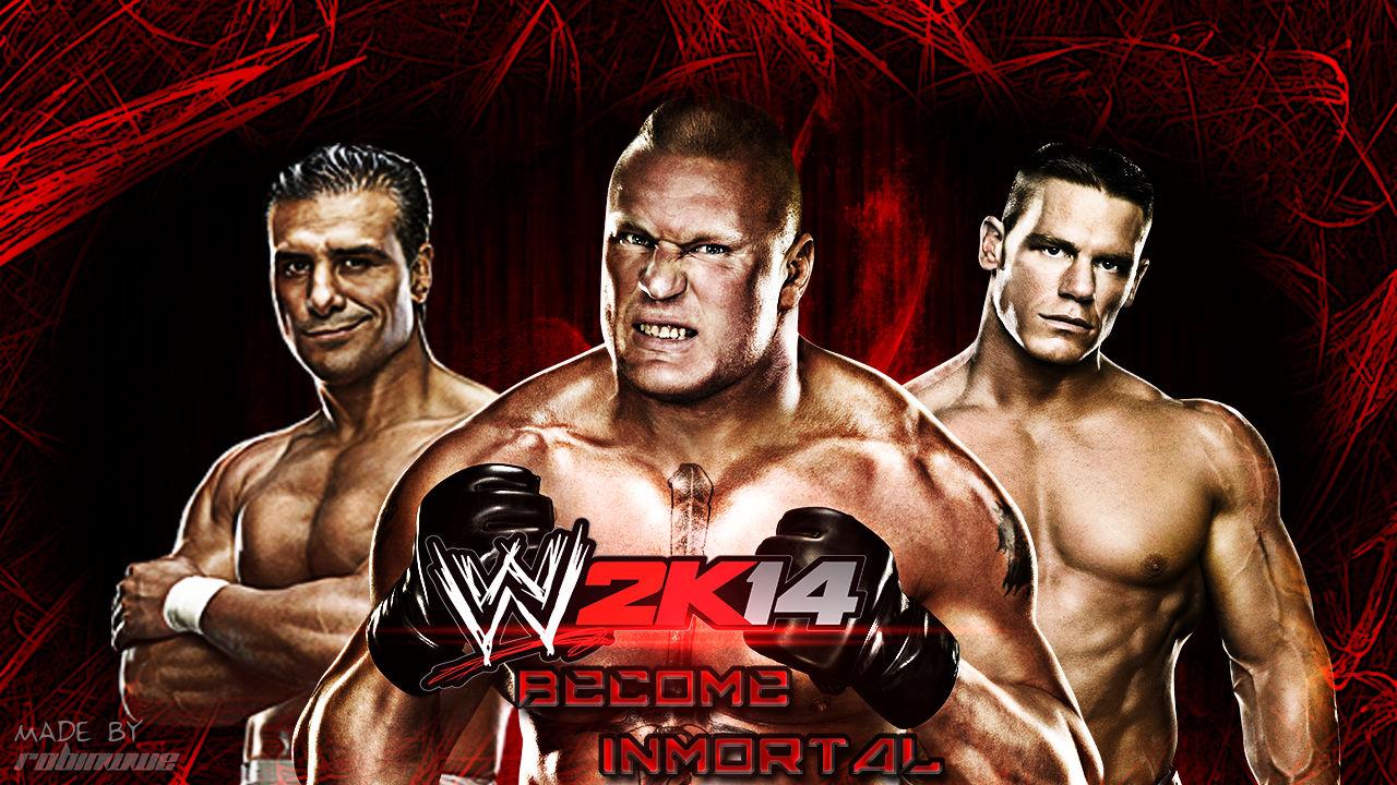 wwe2k14 wallpaper mademerobinwwe on deviantart