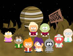 Futurama goes South Park