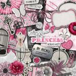 Digital Scrapbooking - Scrapkit Vintage Princess