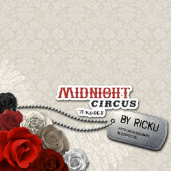 Digital Scrapbooking - Midnight Circus 70 Roses by Rickulein