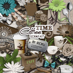 Digital Scrapbooking - Scrapkit Coffee Time by Rickulein