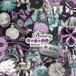 Digital Scrapbooking - Scrapkit Chasing Dreams by Rickulein