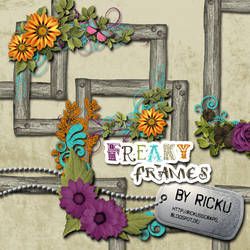 Digital Scrapbooking - Freaky Frames Elements