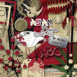 Digital Scrapbooking - Asian Dream NEW Scrap-Kit by Rickulein