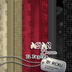 Digital Scrapbooking - Asian Dream NEW - Papers