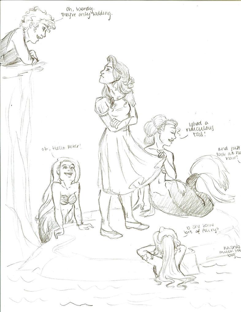 back to mermaid lagoon by kellanrenee - Peter Pan Mermaids Coloring Pages