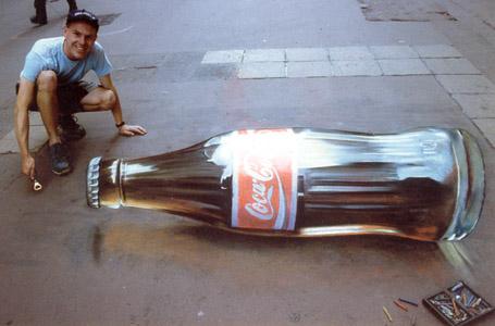 3D Coke Ground Mural by Duskpelt13