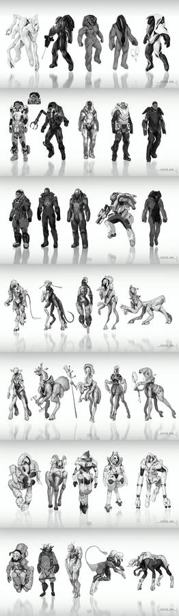 Sister Ark project character concepts