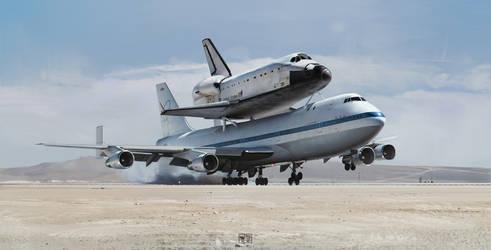 SCA Endeavour landing