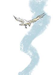 white raven by Rawyen