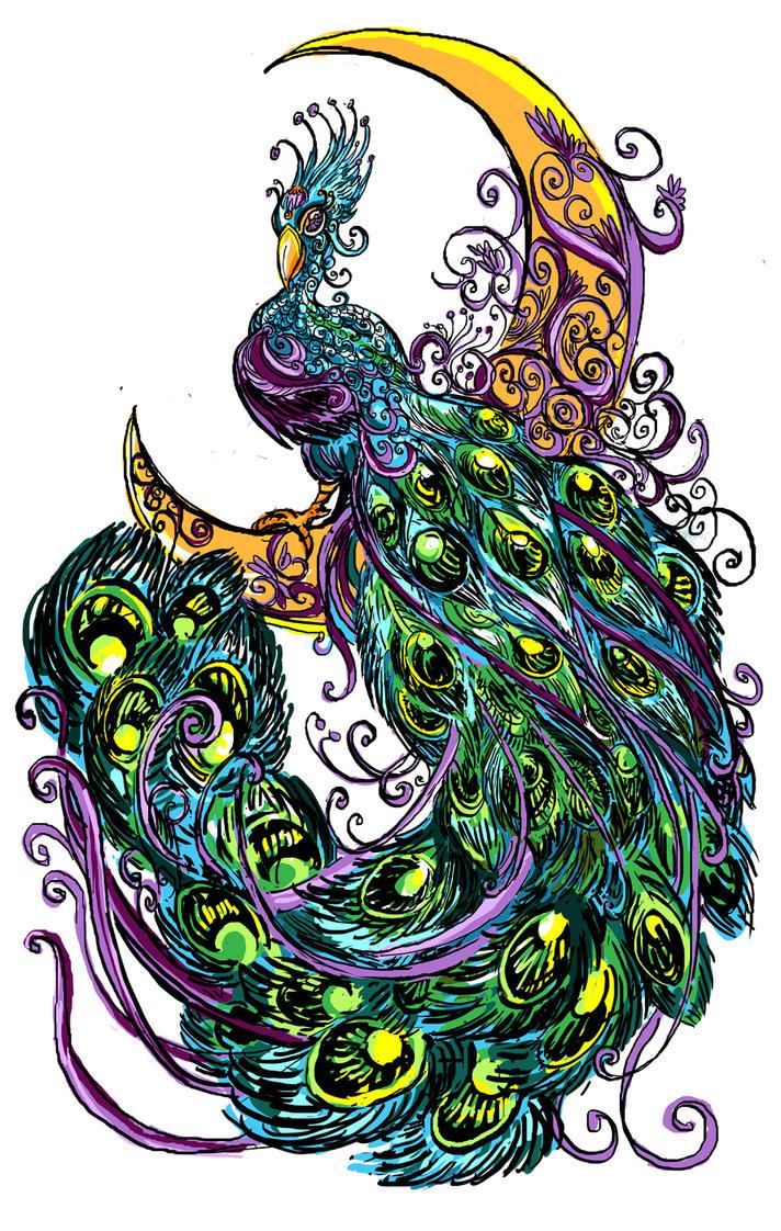Peacock comic