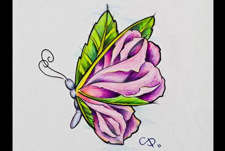 Butterfly Rose by Fantasy-Freak226 on DeviantArt