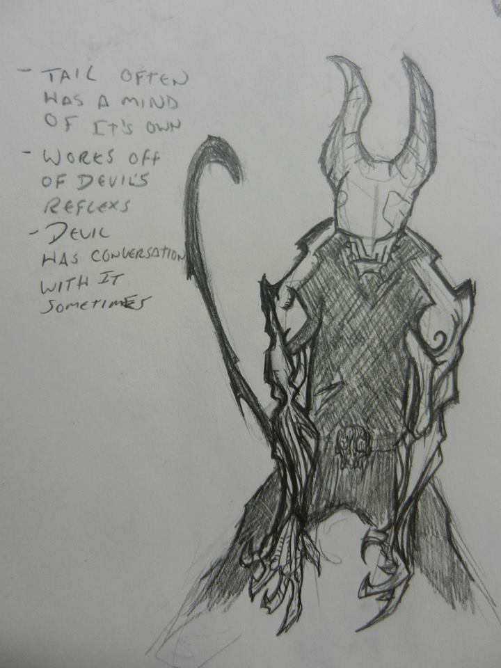 Devil concept sketch by graycrispin1