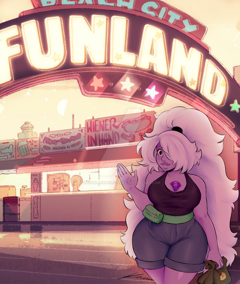 Original lineart is by Ksuriuri Colouring by ladyblackwolf-ariel I decided to go with the cheery look of the beachwear combined with funland as a cute night out. I love it I hope you guys...