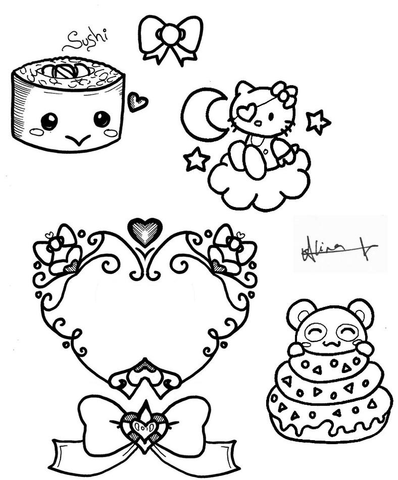 hellokitty and co 2 flash by inkerbelltattoo on deviantart. Black Bedroom Furniture Sets. Home Design Ideas