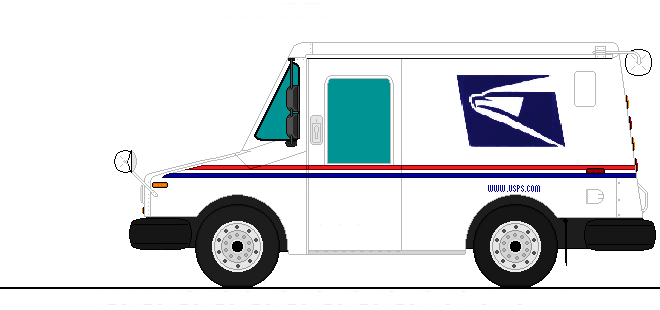U.S. Postal Service Delivery Truck (Updated) by MEDIC1543 ...Usps Delivery Truck Clipart