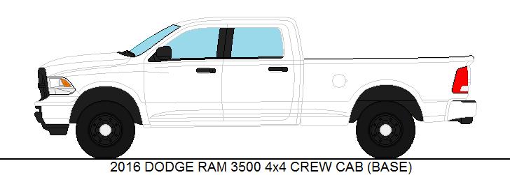 2016 dodge ram 3500 4x4 crew cab base by medic1543 on deviantart. Black Bedroom Furniture Sets. Home Design Ideas