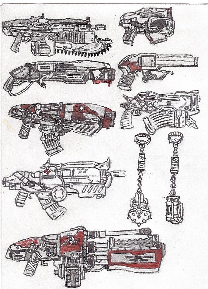 Armas Gears Of War By Lavey1917 On Deviantart