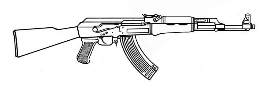 Ak 47 free coloring pages for Ak 47 coloring pages