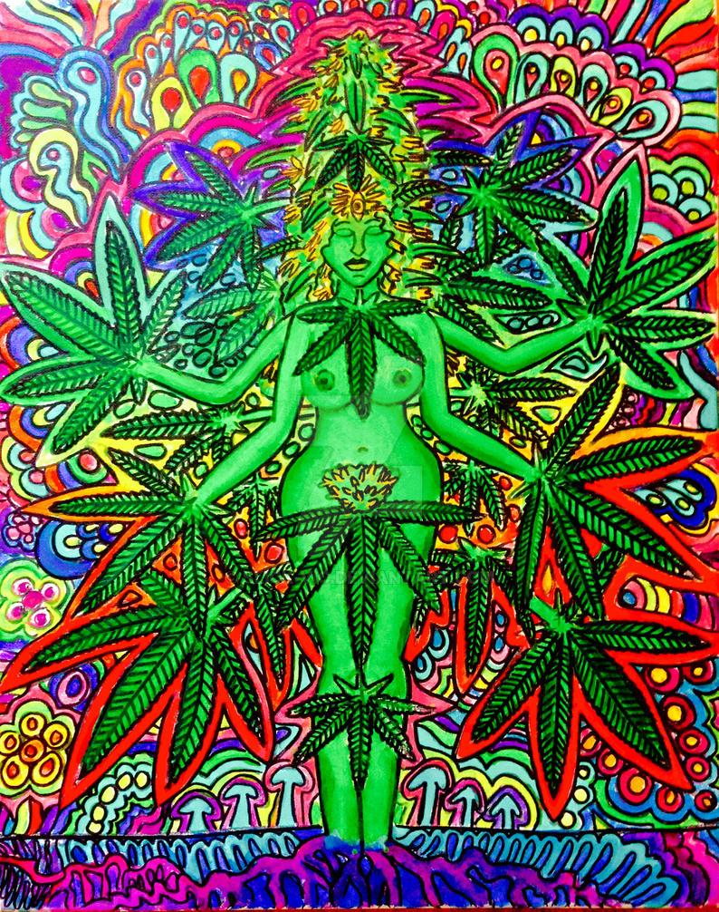 Ganja Goddess by Slick-Vic