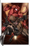Hellboy and Wolverine colored