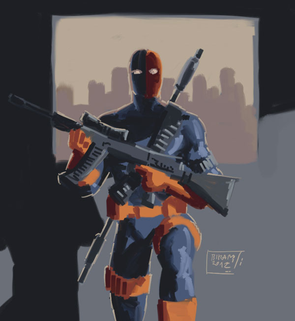 daily sketch 32 - Deathstroke by Niggaz4life